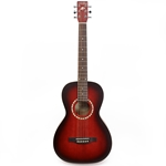 Art&Lutherie AMI Spruce Parlor Guitar w/bag - Burgundy
