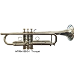 Hunter Musical Hunter Bb Trumpet Silver Plated Body, Gold Plated Top