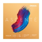 Set of D'Addario Ascente Violin Strings 4/4 Medium Tension