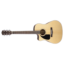 Fender CD-100CE Left-Handed Dreadnought Acoustic Electric Guitar - Natural